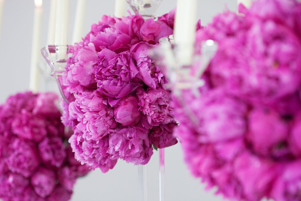 luxury wedding flowers peonies pink hampshire marquee larry walshe london
