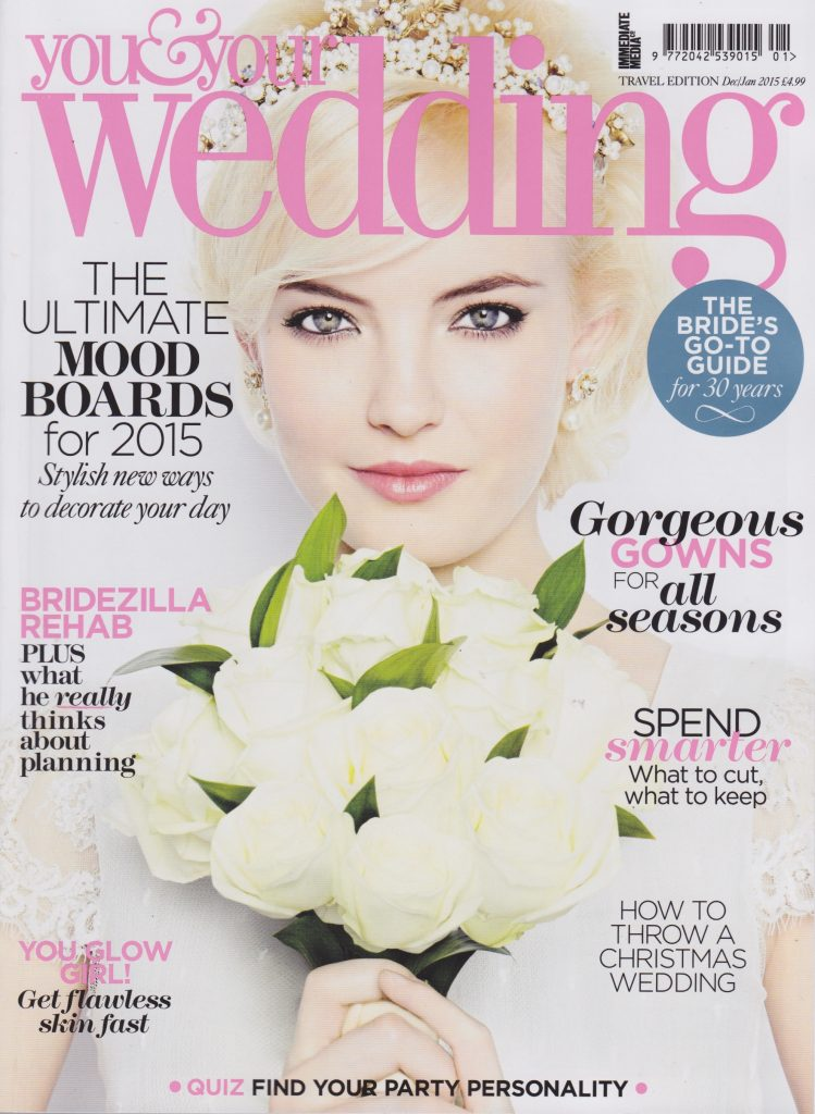You Your Wedding Magazine January 2015 Larry Walshe Flowers