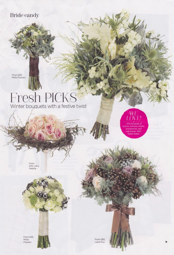 You Your Wedding Magazine January 2015 Larry walshe bridal bouquet flowers