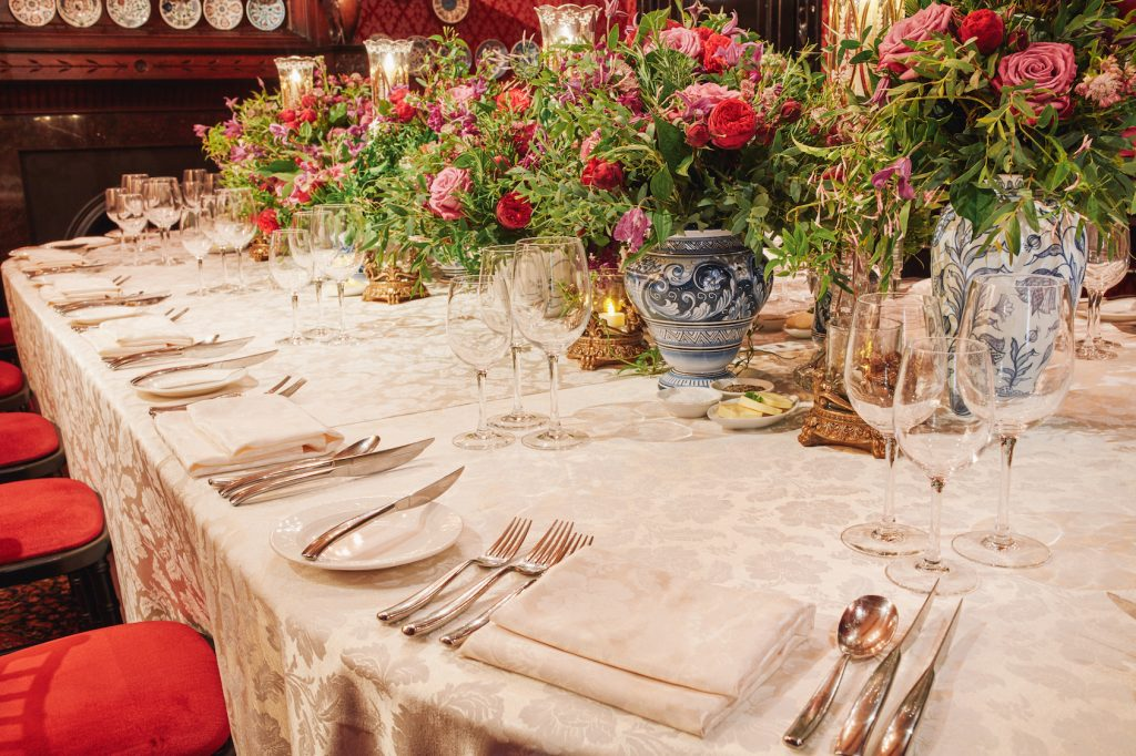 Leighton House Museum Victorian Botanical Kensington Chelsea Florists flowers Foliage Table decor Private Dinner London larry Walshe