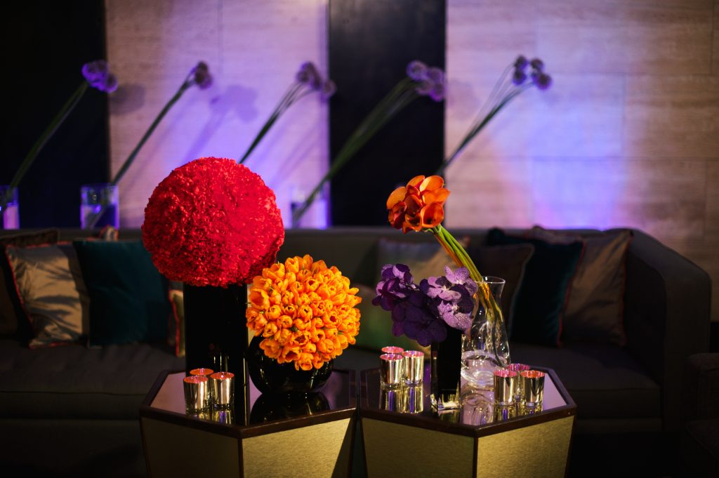 Colour Blocking Larry Walshe London Corporate Event Flowers