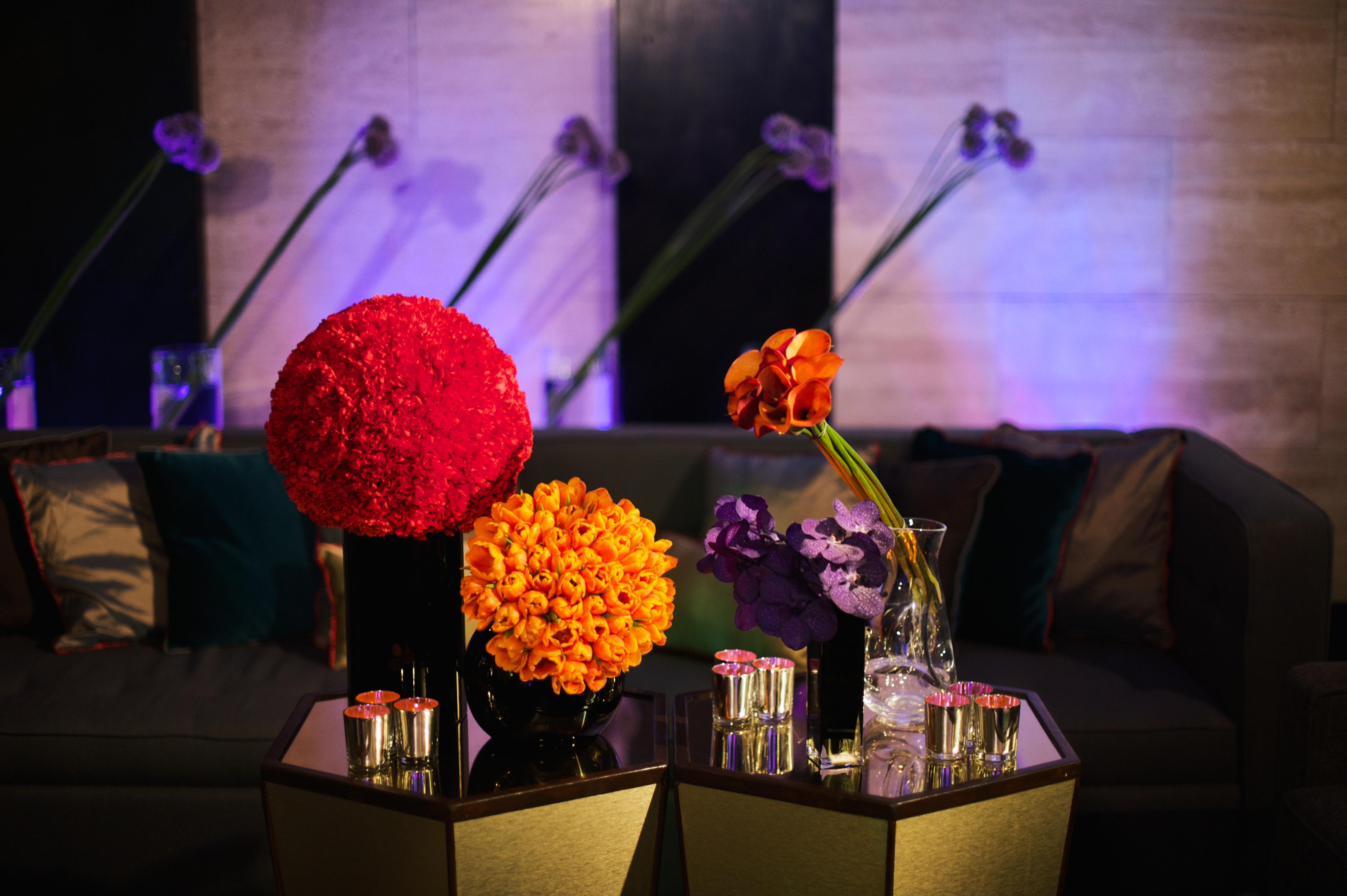 Mayfair Colour Blocking Larry Walshe London Corporate Event Flowers