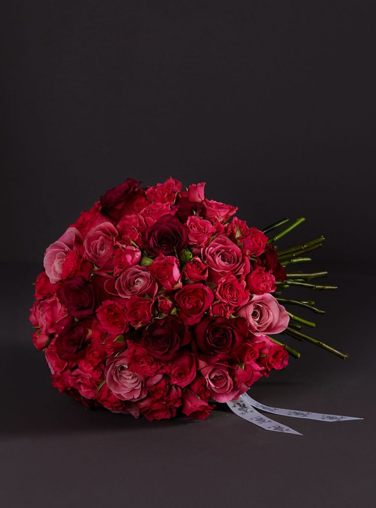 Pink rose knot bouquet larry walshe flowers online order nationwide delivery
