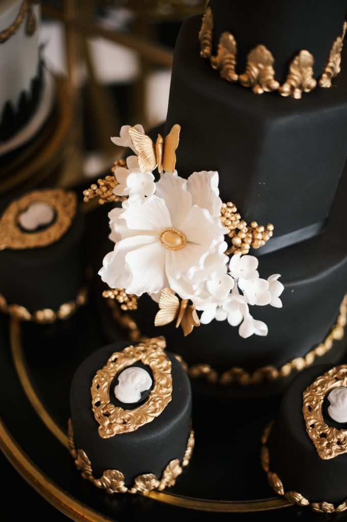 black gold wedding cake elizabeths cake emporium larry walshe london florist