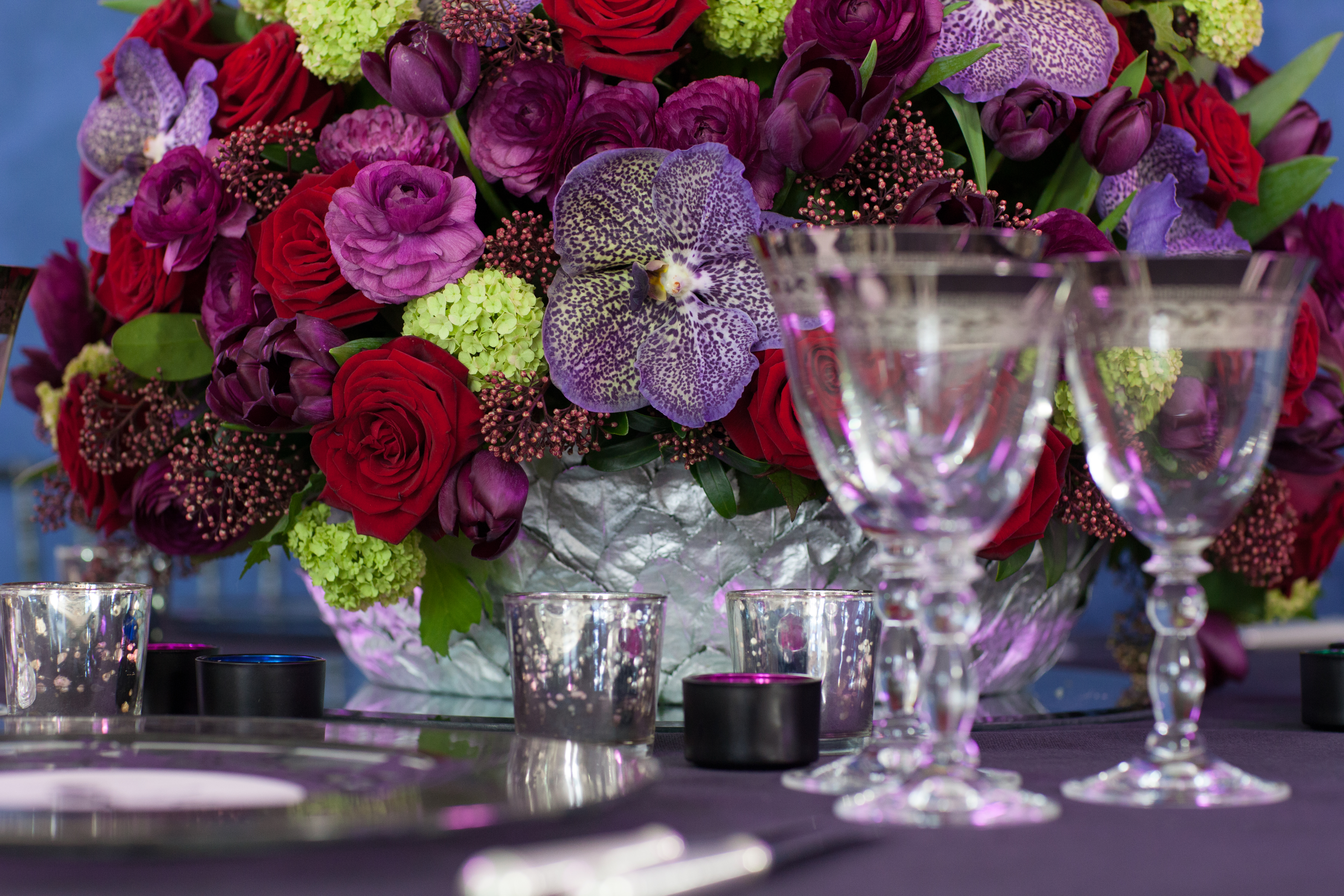 Opulent Spring Birthday Party Flowers