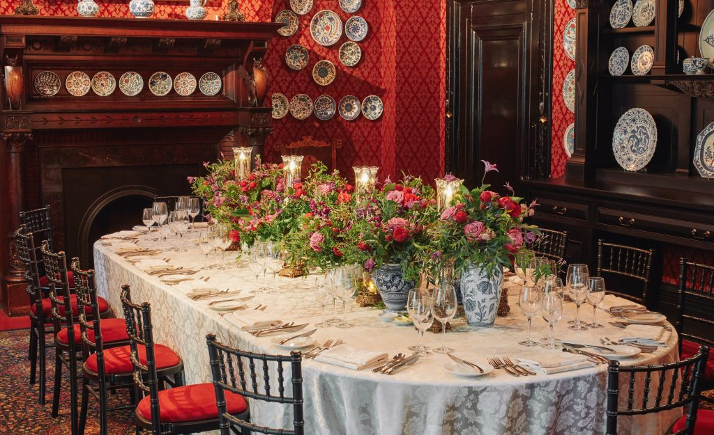 Leighton House Museum Victorian Botanical Kensington Chelsea Florists flowers Foliage Private Dinner London larry Walshe