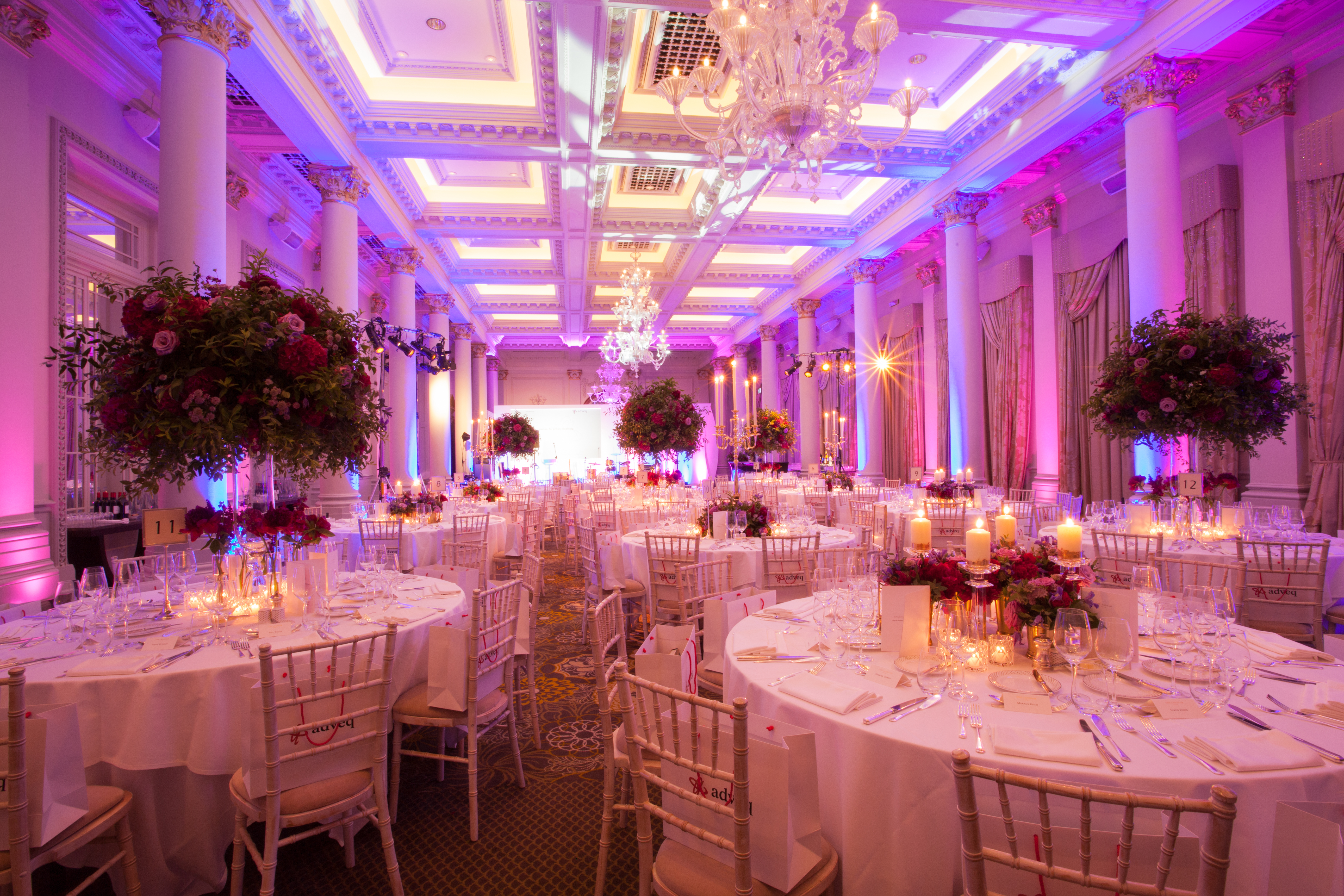 The Langham Hotel Ballroom Marylebon London Contempary Flowers Florist Larry Walshe