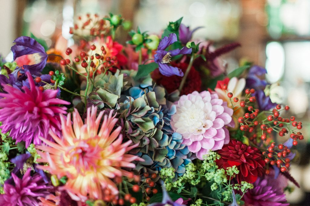Larry Walshe Luxuary Florist London Grenwich Autumnal Florals Dahlias Berries