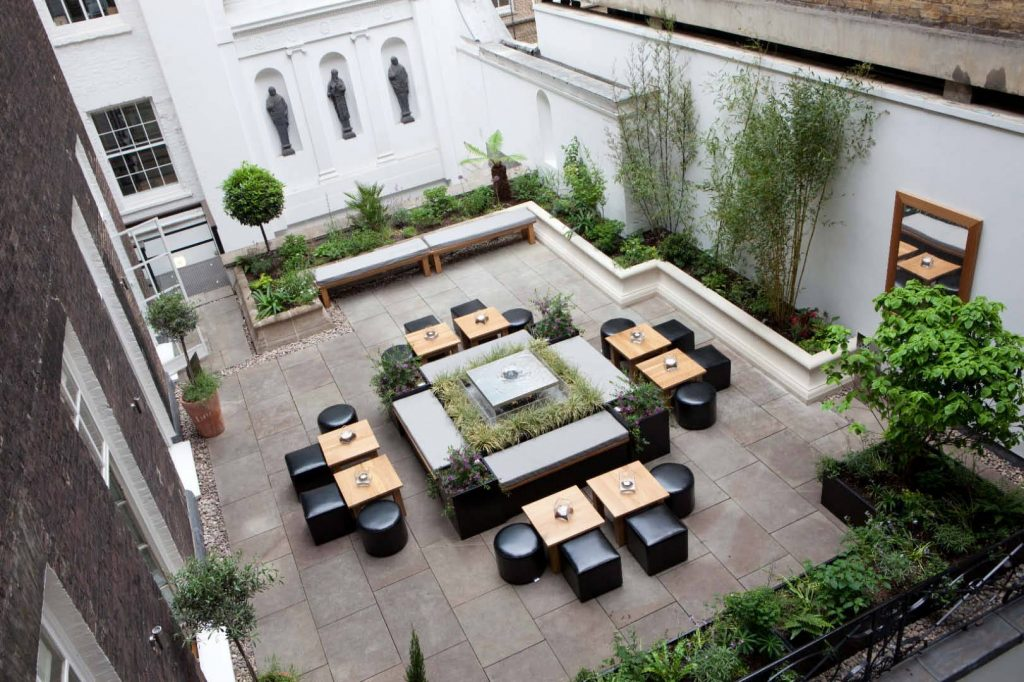 Chandos House Garden terrace Marylebone London venue space Larry walshe Florist Flower